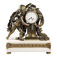 Rare Monumental Antique TIFFANY & Co. Table Clock c1886