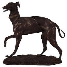 Very Rare c1870 French Alphonse Giroux Bronze Dog Sculpture