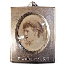 Fine Antique Alphonse Giroux Small Picture Frame c1871