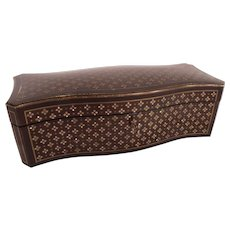 Mesmerizing c1860 TAHAN Mother of Pearl Inlaid Box