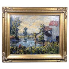 Magnificent Ernest Lawson (1873-1939) New Hope PA Oil Painting