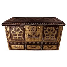 PATRICK SWAYZE Estate Antique Brass Studded Chest,