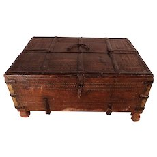 50% OFF SALE 18th Century Indian Dowry Box, Former Property of Patrick Swayze