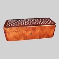 Antique Tahan Paris Inlaid Marquetry Dresser Box