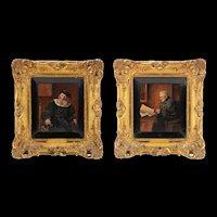 Pair of 19th Century German Oil Paintings by F. Cetl, Christies Provenance