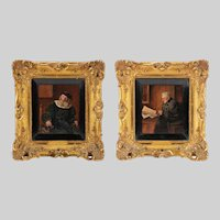 Pair of 19th Century German Oil Paintings by F. Cetl, Christies Provenance