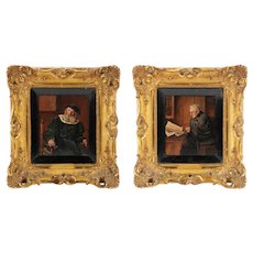 Wonderful Pair of 19th Century German Oil Paintings by F. Cetl, Christies Provenance