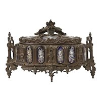 Rare Antique TAHAN French Gothic Jewelry Box