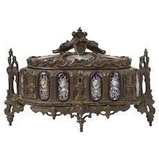 SALE! Rare Antique TAHAN French Gothic Jewelry Box