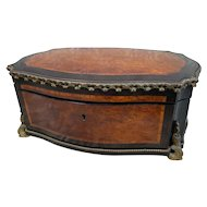 Beautiful Large Antique Napoleon III Vervelle Gilt Bronze Box, Baroness Provenance