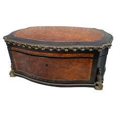Beautiful Large Antique Napoleon III Vervelle Gilt Bronze Box, Baroness Provenance