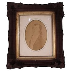 Wonderful Antique Carved Wooden Black Forest Style Victorian Shadow Box Frame.