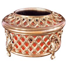 Stunning French Tahan c1870 Bronze Mirror Top Box