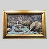 "Museum Quality Ernest Lawson (1873-1939) ""Rocky Inlet"" Oil Painting c1914"