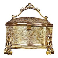 Very Fine Antique Napoleon III,  Bronze  TAHAN  Paris Dresser Box