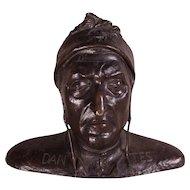 RARE Grand Tour LIFE SIZE Bronze Bust of Dante, c1840