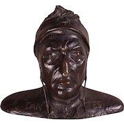 RARE Grand Tour Life Size Bronze Bust of Dante Alighieri, c1840