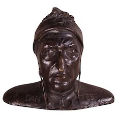 RARE Grand Tour LIFE SIZE Bronze Bust of Dante, c1840