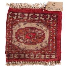 Vintage Miniature Handmade Pakistani Wool Rug #C