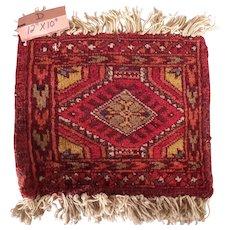 Vintage Miniature Handmade Pakistani Wool Rug #D