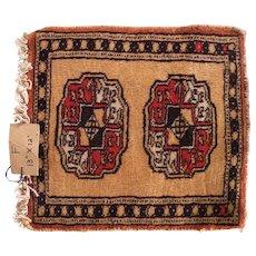 Vintage Miniature Handmade Pakistani Wool Rug #F
