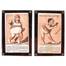 Two Victorian Merchants Gargling Oil Baseball Cards from the 1880's.