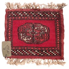 Vintage Miniature Handmade Pakistani Wool Rug #K