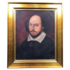 HOLD for Margaret!  Antique Oil Painting of William Shakespeare c1875