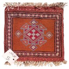 Vintage Miniature Handmade Pakistani Wool Rug #S