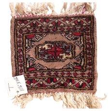 Vintage Miniature Handmade Pakistani Wool Rug #T
