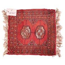 Vintage Miniature Handmade Pakistani Wool Rug #V