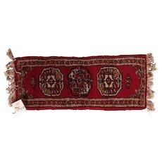 Vintage Miniature Handmade Pakistani Wool Rug #W