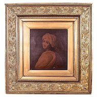 Gorgeous Antique Victorian carved Double Gold Picture Frame.