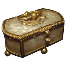 HOLD! Charming small Antique c1850 TAHAN Bronze Table Box