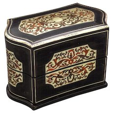 Wonderful c1865 Antique TAHAN Boulle Perfume Box