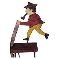 Original Antique 19th century Large Balance Toy on Stand