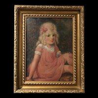 RARE William Glackens (American, 1870-1938)  c1920 Oil Painting PAFA, New Hope, Bucks County