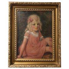 Charming William Glackens c1920 Oil Painting PAFA