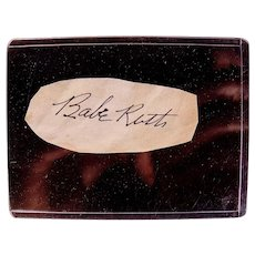 Incredible Babe Ruth et al Baseball Cut Signature Collection