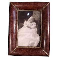 Lovely Vintage Celluloid & Copper Picture Frame