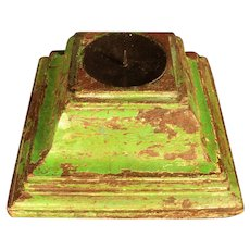 Charming Antique Painted Wood Capital – Candle Stand