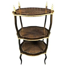 19th Century TAHAN French Napoleon III Three-Tier Étagère, circa 1860