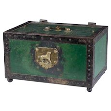 Antique 18th Century English Painted Metal Strong Box