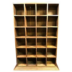Lovely Antique Pigeon Hole Shelving Unit