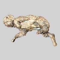 Antique Alphonse GIROUX 1840's French Bronze Sculptural Dog Paper Weight #3