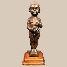 Exceptional late 18th Century Italian Carved Wood Cherub