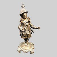 Very Rare Antique French Alphonse GIROUX Wine Peddler Bronze Sculpture