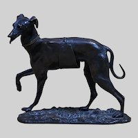 Antique Alphonse GIROUX Bronze Dog Sculpture