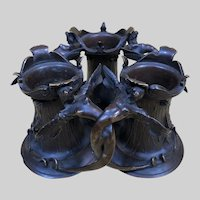Outstanding Antique Alphonse GIROUX Bronze Desk Tidy