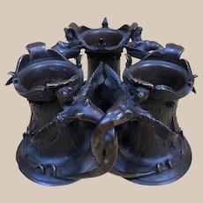 Antique Alphonse Giroux Bronze Desk Tidy